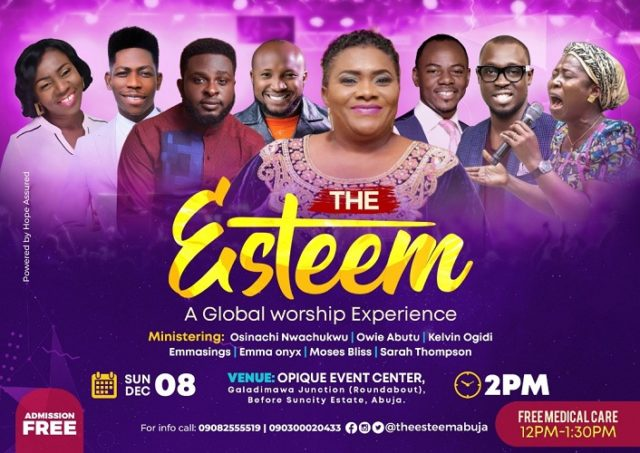 [Events] Frank Edwards, Owie Abutu, and others set for The Esteem 2019 in Abuja