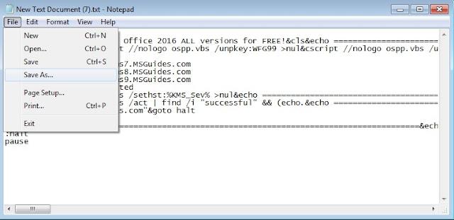 تفعيل برنامج Microsoft Office 2016 بدون سريال التفعيل