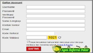 Agenreferralpoker.com Memberitahukan Cara Untuk Mendaftar