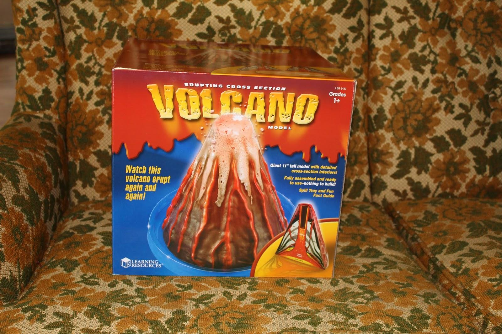 Chitchatmom Erupting Cross Section Volcano Model