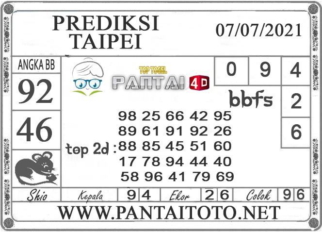 PREDIKSI TOGEL TAIPEI PANTAI4D 06 JULI 2021