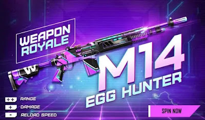 Free Fire Redeem Code 2021 Today For M14 Egg Hunter New Weapon Royale