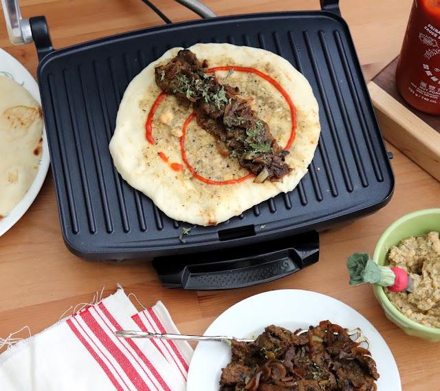 beef hummus wrap