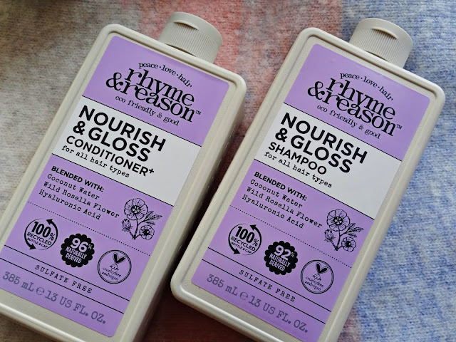 Rhyme & Reason Nourish & Gloss Shampoo and Conditioner Review, photos