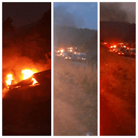 Tanker driver burn helplessly as no one could save him in Enugu fire incident