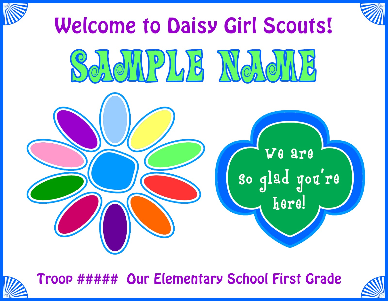 Girl Scout Daisy Name Tag Template