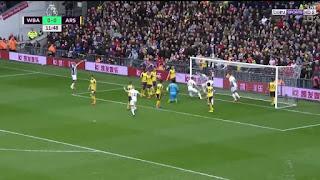 اهداف مباراة ارسنال ووست بروميتش 1-3 فى الدورى الانجليزى