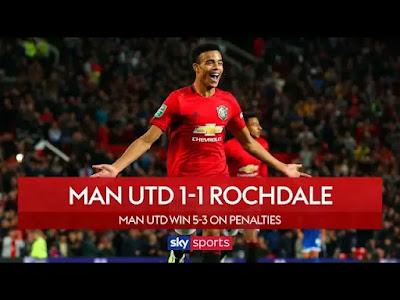 Man Utd vs Rochdale 1-1 All Goals And Match Highlights [MP4 & HD VIDEO]