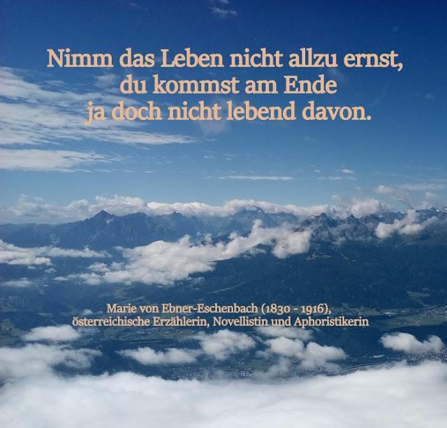 Zitat - Quote: Marie von Ebner-Eschenbach