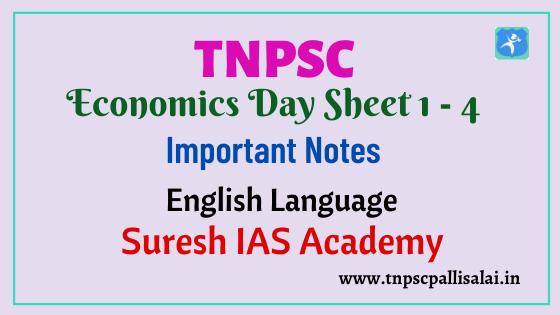 Economics Day Sheet 1 - 4 for All TNPSC Exams