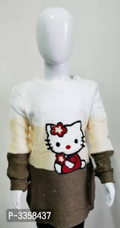 Hello Kitty and Other Cartoon Printed Woolen Sweaters
