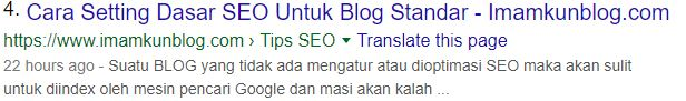 Cara Postingan Blog Mudah di Index Google: Tips SEO