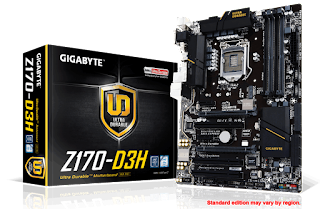 Gigabyte GA-Z170-D3H Driver for Windows 7/8/10 Download