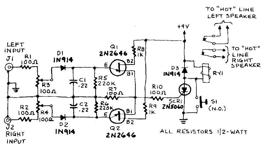overload speaker protection circuit diagram