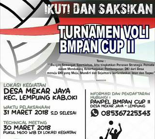 Turnamen Volly BM PAN Cup II OKI