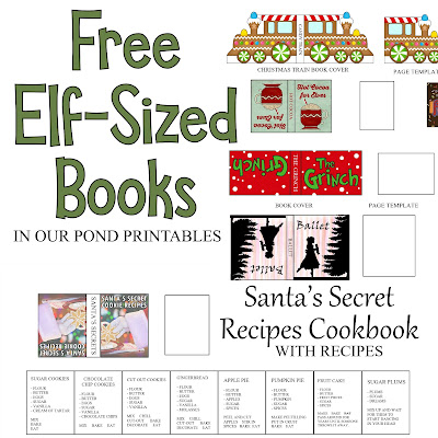 Elf-Sized Mini Books from In Our Pond #miniatures #christmas #elfontheshelf