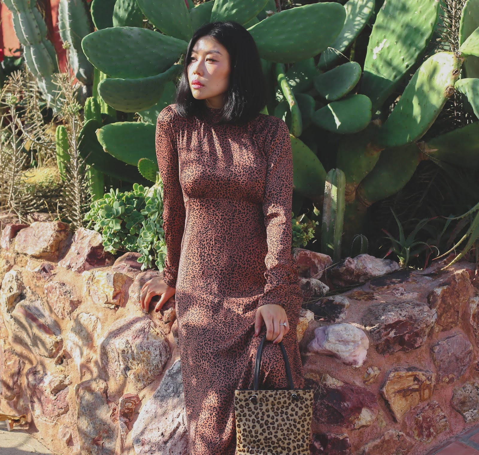 free people animal print dress