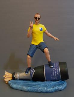 cake topper surfista action figure personalizzate personaggi su ordinazione orme magiche