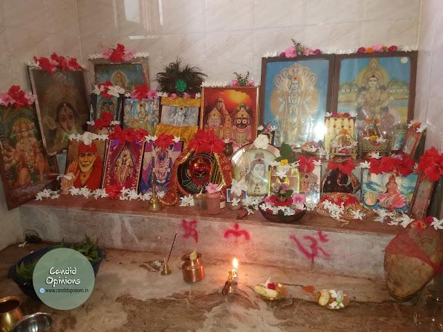 Thakura ghara or our prayer room