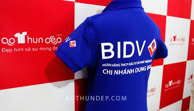 Áo thun đồng phục có cổ - Ngân hàng BIDV