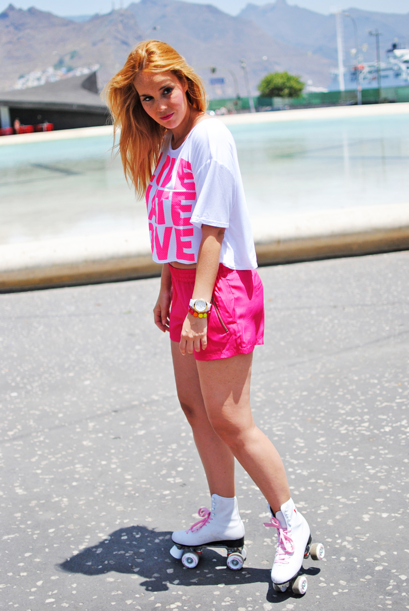snb, Nery hdez, inlovewithfashion, pink , roller girl