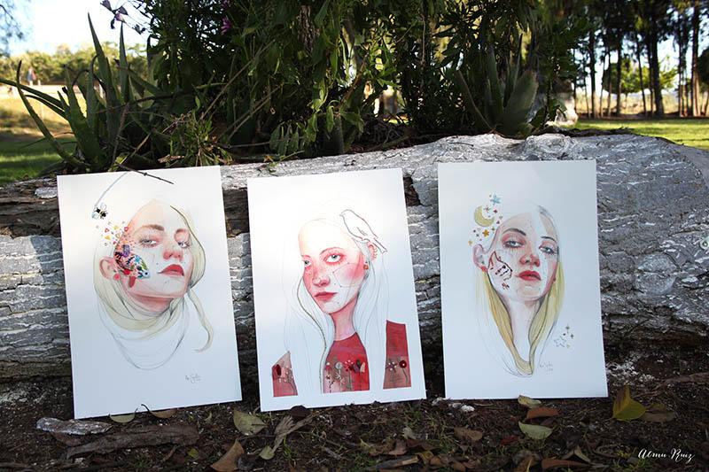 Serie de ilustraciones bordadas de Ana Santos y Almu Ruiz