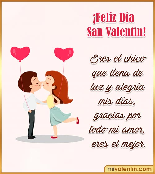 feliz san Valentín para mi novio