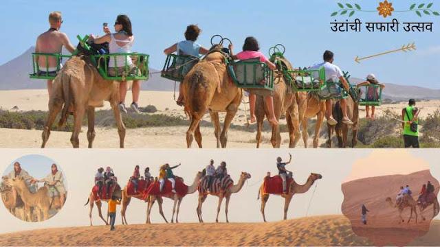 उंटांची सफारी उत्सव #Camel Safari- भारतातील ४० प्रसिद्ध सण आणि उत्सव | 40 Famous Festivals and Celebrations in India
