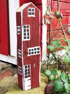 Holzhäuser basteln als Gartendeko
