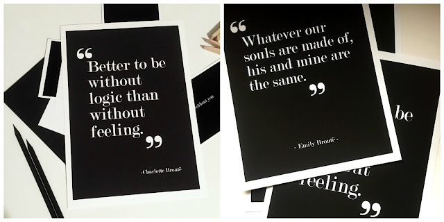 Literary Quote Print, Bronte Quote Print, Love Quotes, Love Poster, Etsy Poster, Print by Sacred and Profane Designs