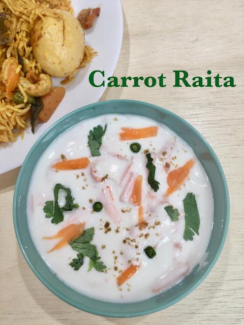 Carrot Raita