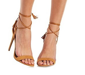 Charlotte russe brown lace-up sandals