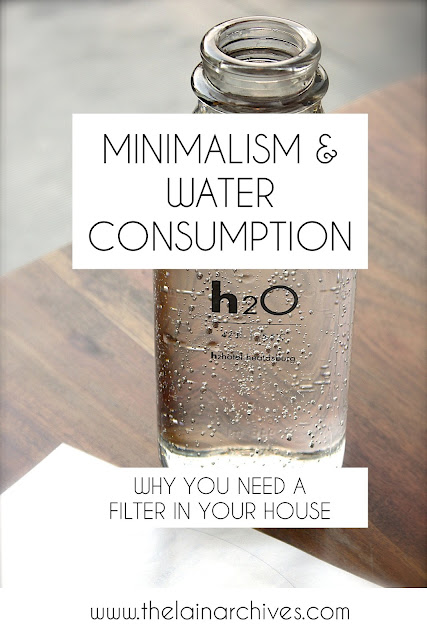 Minimalism & Water Consumption: Why you need a water filter in your house.