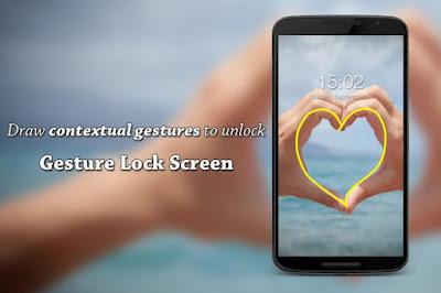 تحميل تطبيق Gesture Lock Screen Pro لفتح قفل الشاشة,