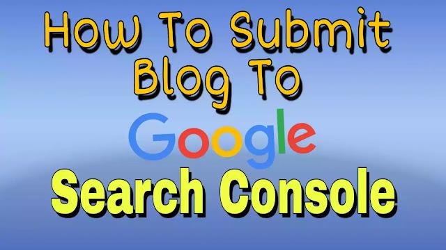 blogger in google search console