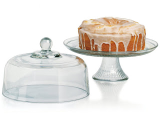 anchor hocking glass cake stand