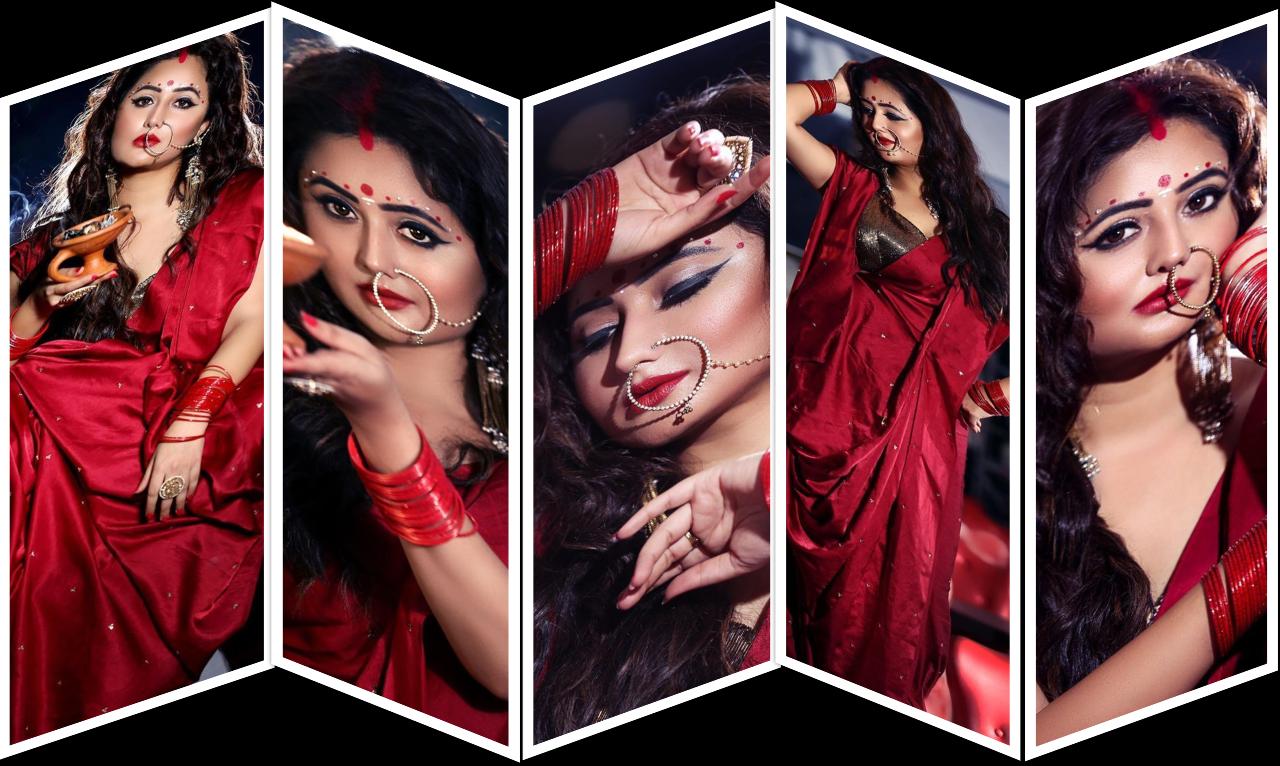 "Bolly Beauty: Durga Puja 2020 Rashami Desai gives festive vibes as she dresses up as a ""Bengali bride"" pics inside"