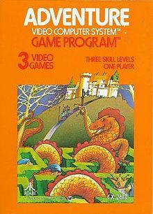 Atari 2600 Adventure Created by Warren Robinett box