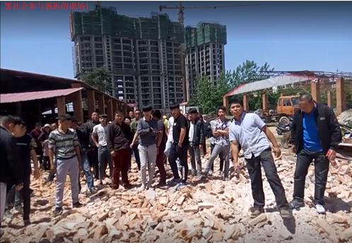 河南省商城县村民黄乃庆因为反映县政府涉黑贪腐  房屋被强拆