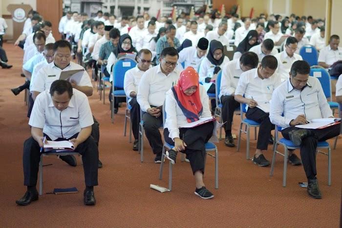 Sebanyak 189 Pejabat Adiministrator Eselon  III Pemkab Lampung Selatan Jalani Uji Kompetensi Jabatan.