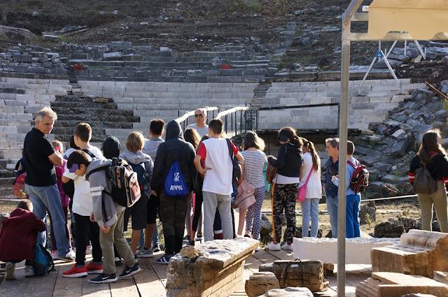 Θεσπρωτία: Μαθητές της Στ' τάξης του Δημοτικού Σχολείου Γραικοχωρίου στα αρχαἰα Γίτανα