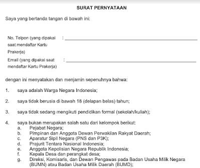 Download Surat Pernyataan Prakerja Gagal 3 Kali untuk Mengatasi Selalu Gagal Daftar Prakerja