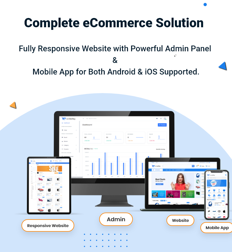 Download 6valley Multi-Vendor E-commerce v2.1 nulled - Complete eCommerce Mobile App, Web and Admin Panel