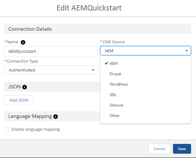 Publish AEM Content to Salesforce Communities using CMS