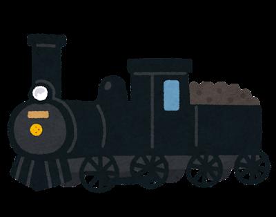 蒸気機関車・汽車のイラスト(煙なし)