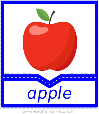 Apple - English flashcards for the fruits and vegetables topic