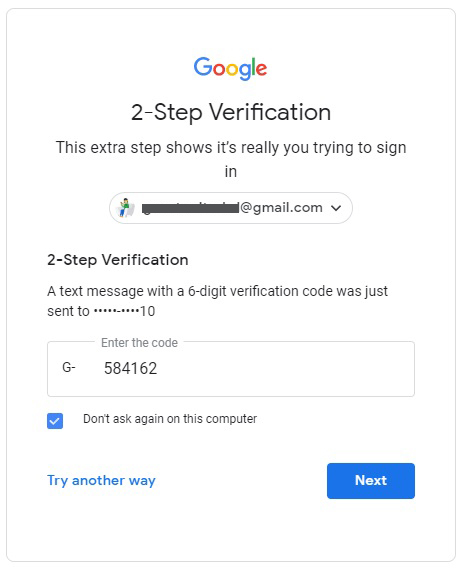 two form factor authentication