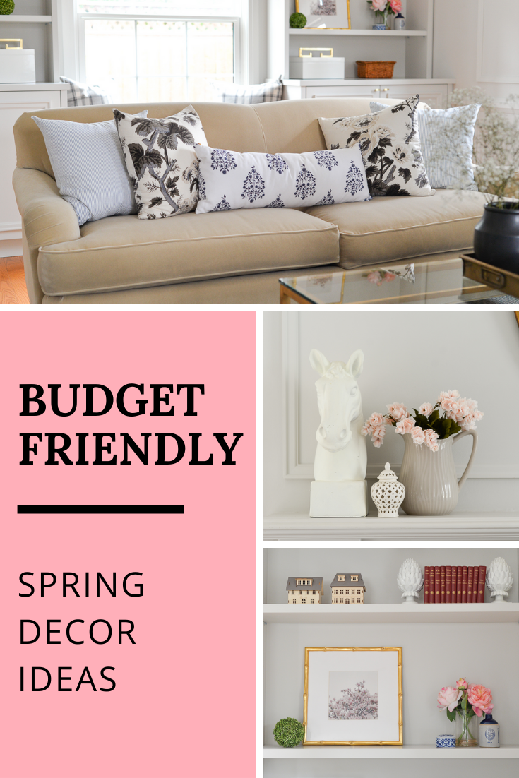 budget spring decor, affordable spring decor, budget decorating ideas