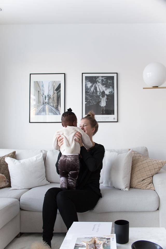 Villa H, kodin sisustus, arki, rutiinit, äiti ja tytär,