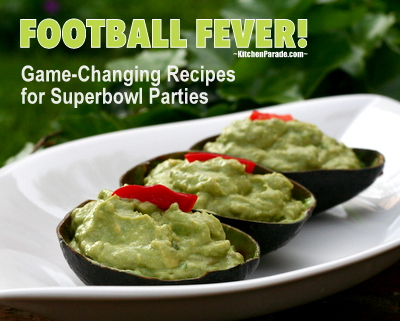 Football Fever! ♥ KitchenParade.com, a fun, football-friendly collection of game-changing recipes for Superbowl parties. Party on!